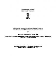 functional requirement specification for energy efficient led ... - rdso