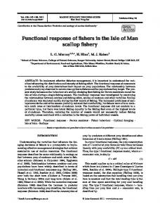 Functional response of fishers in the Isle of Man scallop fishery