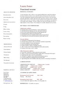 Functional resume template, administrative assistant resume