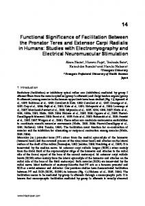 Functional Significance of Facilitation Between the ... - IntechOpen