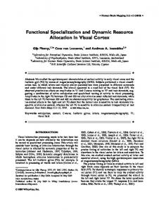Functional specialization and dynamic resource ... - Semantic Scholar