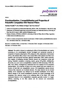 Functionalization, Compatibilization and Properties of ... - MDPI