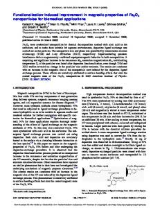 Functionalization-induced improvement in magnetic properties of ...