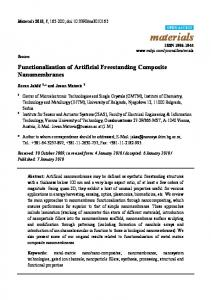 Functionalization of Artificial Freestanding Composite ... - MDPI