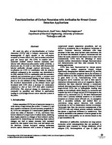 Functionalization of Carbon Nanotubes with Antibodies ... - IEEE Xplore