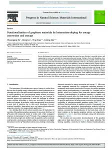 Functionalization of graphene materials by