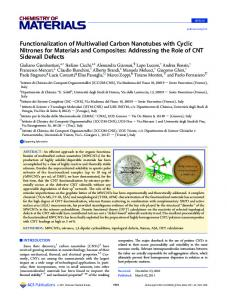 Functionalization of Multiwalled Carbon Nanotubes with Cyclic ...