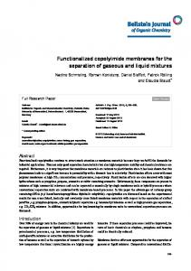 Functionalized copolyimide membranes for the ... - Beilstein Journals