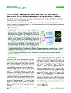 Functionalized Mesoporous Silica Nanoparticles ... - ACS Publications