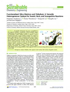 Functionalized Silica Matrices and Palladium: A Versatile