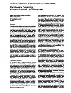 Functionally Referential Communication in a ... - Semantic Scholar
