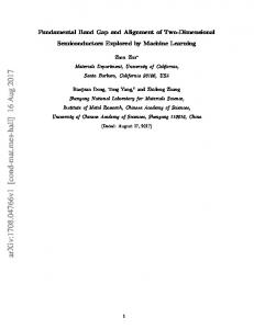 Fundamental Band Gap and Alignment of Two-Dimensional ...