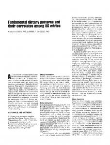 Fundamental Dietary Patterns and Their ... - Semantic Scholar