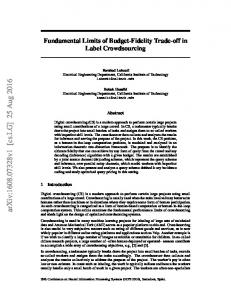Fundamental Limits of Budget-Fidelity Trade-off in Label Crowdsourcing