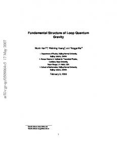 Fundamental Structure of Loop Quantum Gravity