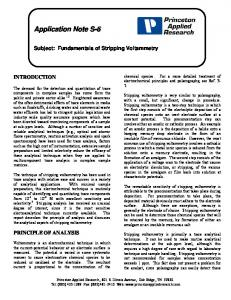 Fundamentals of Stripping Voltammetry - Princeton Applied Research