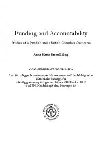 Funding and Accountability - Stockholm School of Economics