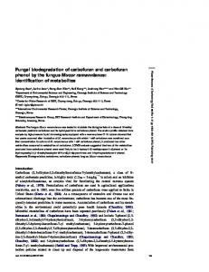 Fungal biodegradation of carbofuran and carbofuran phenol by the ...