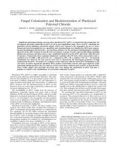 Fungal Colonization and Biodeterioration of Plasticized Polyvinyl ...