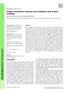 Fungal communities influence root exudation rates in pine seedlings