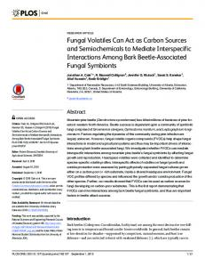 Fungal Volatiles Can Act as Carbon Sources and ... - Semantic Scholar