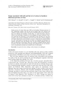 Fungi associated with boll and lint rot of cotton in