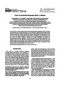 Furan in Thermally Processed Foods - A Review - Semantic Scholar