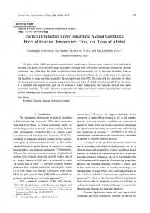Furfural Production Under Subcritical Alcohol Conditions - J-Stage