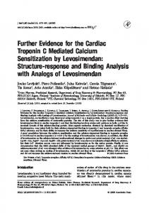 Further Evidence for the Cardiac Troponin C ...