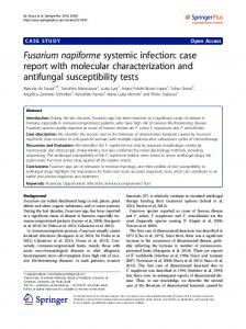 Fusarium napiforme systemic infection: case report ... - BioMedSearch