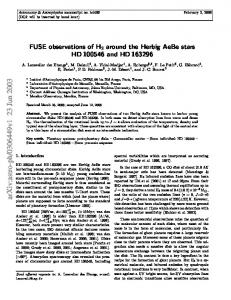 FUSE observations of H2 around the Herbig AeBe stars HD 100546 ...