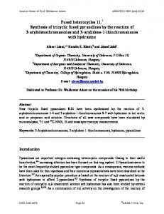 Fused heterocycles 11.1 Synthesis of tricyclic fused ... - Arkivoc