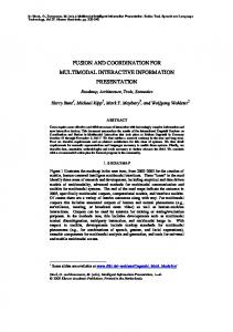 fusion and coordination for multimodal interactive ... - CiteSeerX