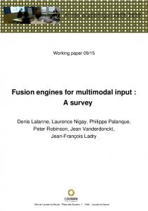 Fusion engines for multimodal input: A survey
