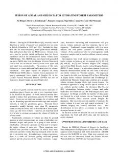 Fusion of AIRSAR and MEIS Data for Estimating Forest ... - CiteSeerX