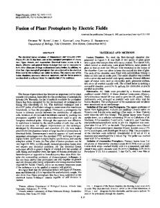 Fusion of Plant Protoplasts by Electric Fields - NCBI
