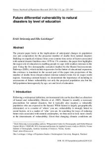 Future differential vulnerability to natural disasters by ... - austriaca.at