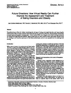 Future Directions: How Virtual Reality Can Further