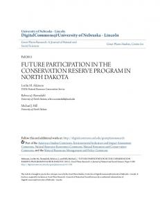 future participation in the conservation reserve program in north dakota