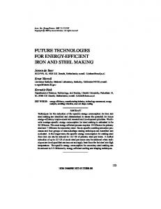 future technologies for energy-efficient iron and ... - Annual Reviews