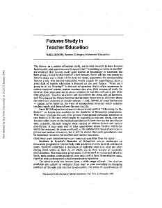 Futures Study in Teacher Education