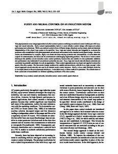 Fuzzy and neural control of an induction motor - Semantic Scholar