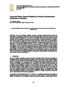 Fuzzy and Neural Network Models for Pollution ... - Semantic Scholar