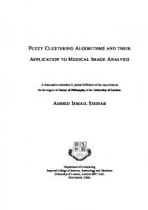 fuzzy clustering algorithms and their application to