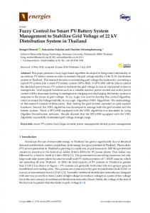 Fuzzy Control for Smart PV-Battery System Management to ... - MDPI