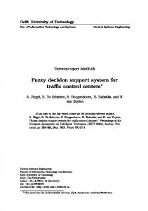 Fuzzy decision support system for traffic control ... - Semantic Scholar