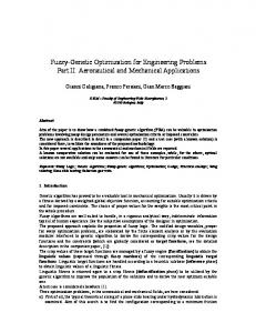 Fuzzy-Genetic Optimization for Engineering Problems ...