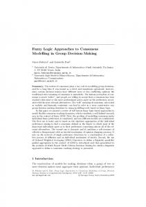 Fuzzy Logic Approaches to Consensus Modelling in Group Decision ...