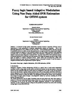 Fuzzy logic based Adaptive Modulation Using Non Data ... - CiteSeerX