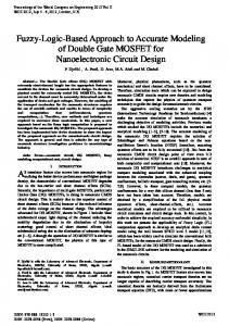 Fuzzy-Logic-Based Approach to Accurate Modeling of Double ... - IAENG